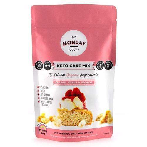 Keto Cake Mix - Classic Vanilla Sponge - Monday Food Co. 250g