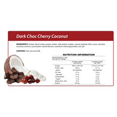 Smart Protein Bar - Dark Choc Cherry Coconut - Box of 12 - 720g