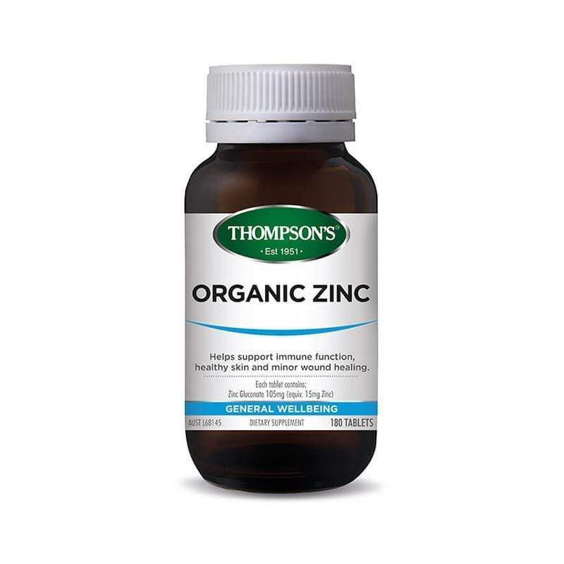 Thompsons Organic Zinc - 80 Tablets