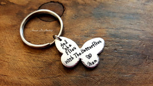 And She Flies With Butterflies Keychain-JazzieJ'sJewelry