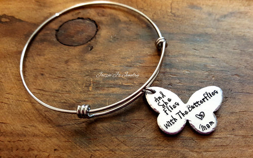 And She Flies With Butterflies Bangle-JazzieJ'sJewelry