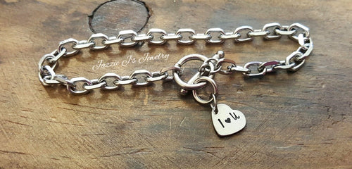 I Love You Heart Bracelet-JazzieJ'sJewelry