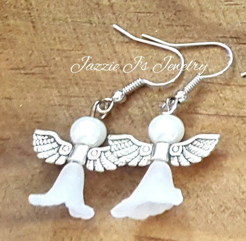 Angel Dangle Earrings-JazzieJ'sJewelry