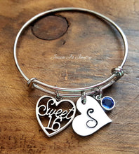 Load image into Gallery viewer, Personalized Sweet 16 Bangle-JazzieJ'sJewelry