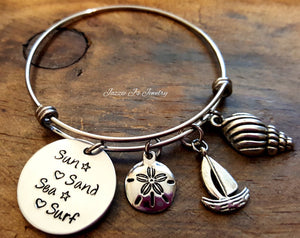 Beach Bangle Bracelet-JazzieJ'sJewelry