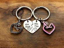 Load image into Gallery viewer, Her Buck His Doe Keychain Gift Set-JazzieJ'sJewelry