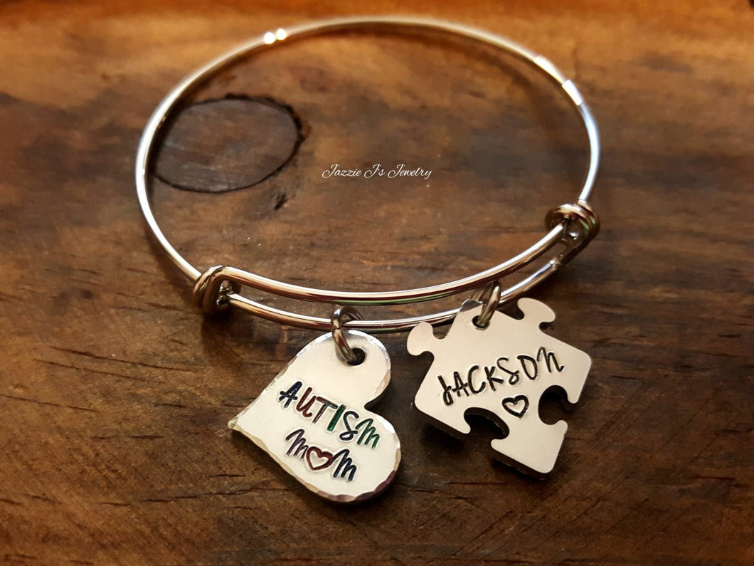 Autism Mom Bangle-JazzieJ'sJewelry