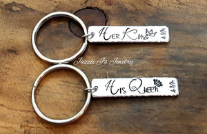 Her King His Queen Keychain Set-JazzieJ'sJewelry