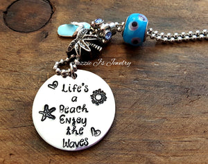 Beach Lover Car Charm/ Rearview Mirror-JazzieJ'sJewelry