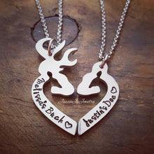 Load image into Gallery viewer, Personalized Her Buck His Doe Necklace Set-JazzieJ'sJewelry