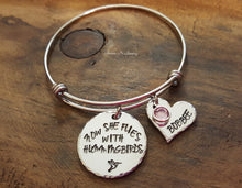 Load image into Gallery viewer, Now She Flies With Hummingbirds Bangle-JazzieJ'sJewelry