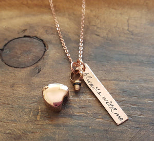 Rose Gold Urn Necklace-JazzieJ'sJewelry