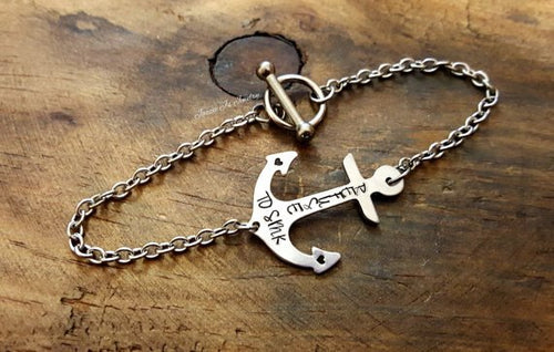 Refuse to Sink Anchor Bracelet-JazzieJ'sJewelry
