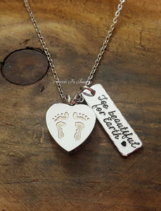 Angel Baby Feet Urn Necklace-JazzieJ'sJewelry