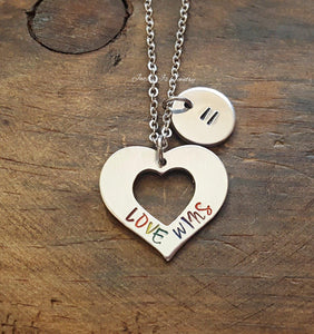 Love Wins Heart Necklace-JazzieJ'sJewelry