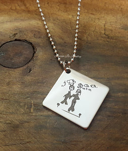 Kids Artwork Necklace-JazzieJ'sJewelry