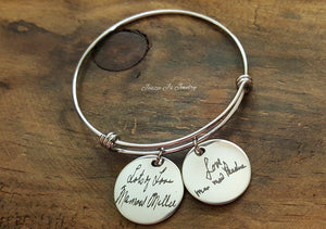 Handwritten Bangle-JazzieJ'sJewelry
