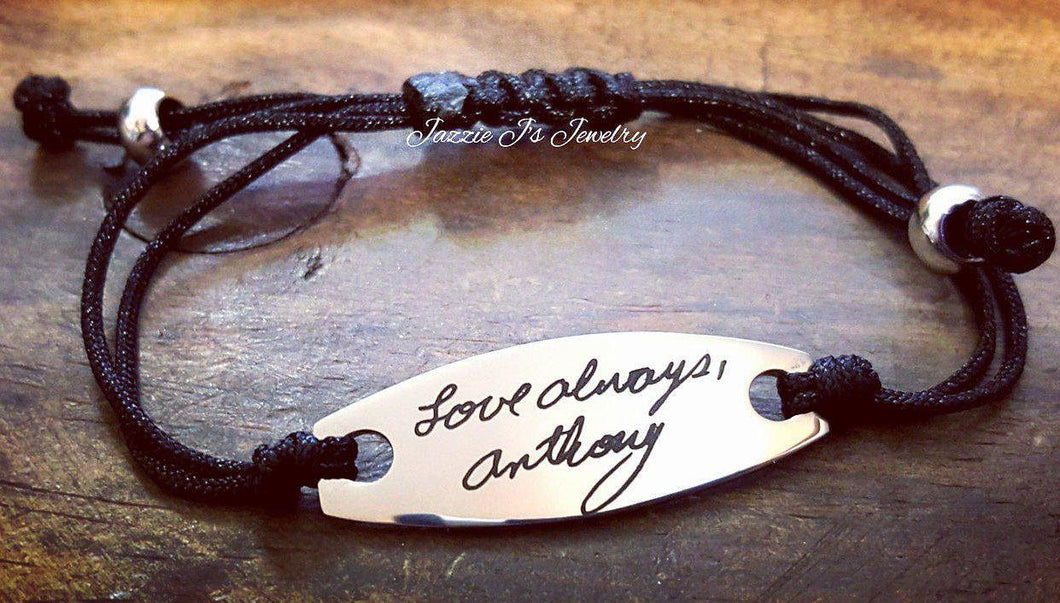 Handwritten Adjustable Bracelet-JazzieJ'sJewelry