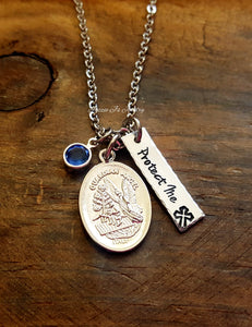 St. Michael Guardian Angel Necklace-JazzieJ'sJewelry