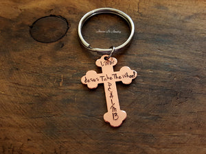 Jesus Take The Wheel Keychain-JazzieJ'sJewelry
