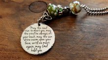 Load image into Gallery viewer, Irish Blessing With Car Charm-JazzieJ'sJewelry