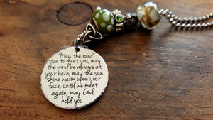 Irish Blessing With Car Charm-JazzieJ'sJewelry