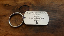 Load image into Gallery viewer, Be Strong & Courageous Keychain-JazzieJ'sJewelry
