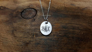 Monogram Necklace-JazzieJ'sJewelry