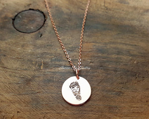 Actual Footprint Necklace-JazzieJ'sJewelry