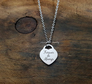 Handwritten Heart Necklace
