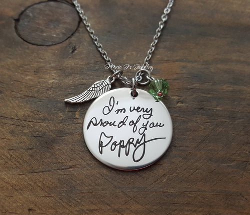 Handwritten Necklace-JazzieJ'sJewelry
