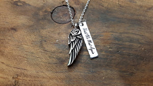 Angel Wing Urn Necklace-JazzieJ'sJewelry
