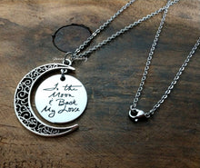 Load image into Gallery viewer, Handwritten To The Moon & Back Necklace-JazzieJ'sJewelry
