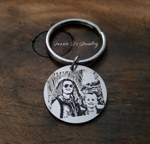 Load image into Gallery viewer, Engraved Photo Keychain-JazzieJ'sJewelry