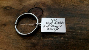 Handwritten Small Rectangle Keychain-JazzieJ'sJewelry