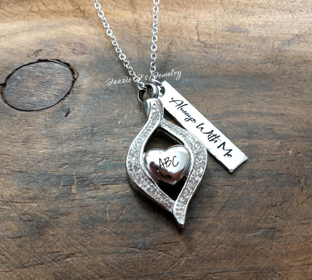 Tear Drop Urn Necklace-JazzieJ'sJewelry