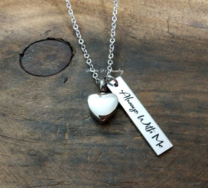 Engraved Heart Urn Necklace-JazzieJ'sJewelry