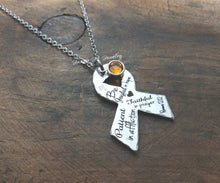 Load image into Gallery viewer, Romans 12:12 Ribbon Necklace-JazzieJ'sJewelry
