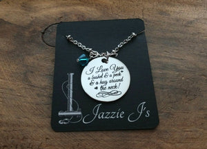 I Love You A Bushel & A Peck Necklace-JazzieJ'sJewelry