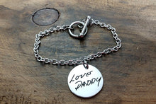 Load image into Gallery viewer, Handwritten Charm Bracelet-JazzieJ'sJewelry