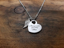Load image into Gallery viewer, Handwritten Heart with Angel Wing Necklace-JazzieJ'sJewelry