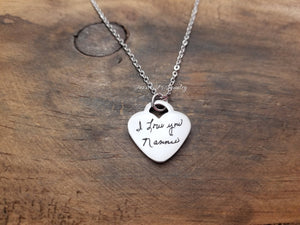 Handwritten Heart Necklace-JazzieJ'sJewelry