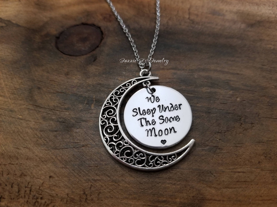 Under The Same Moon Necklace-JazzieJ'sJewelry