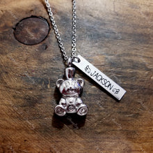 Load image into Gallery viewer, Personalized Teddy Bear Urn Necklace-JazzieJ'sJewelry