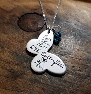 Now She Flies With Butterflies Necklace-JazzieJ'sJewelry