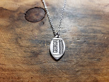 Load image into Gallery viewer, Custom Football Necklace-JazzieJ'sJewelry