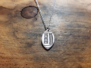 Custom Football Necklace-JazzieJ'sJewelry