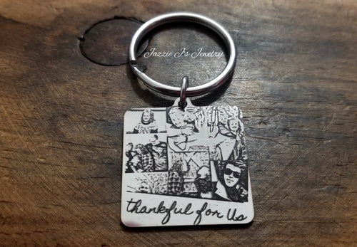 Engraved Photo Keychain-JazzieJ'sJewelry