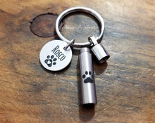Load image into Gallery viewer, Pet Cremation Urn Keychain-JazzieJ'sJewelry