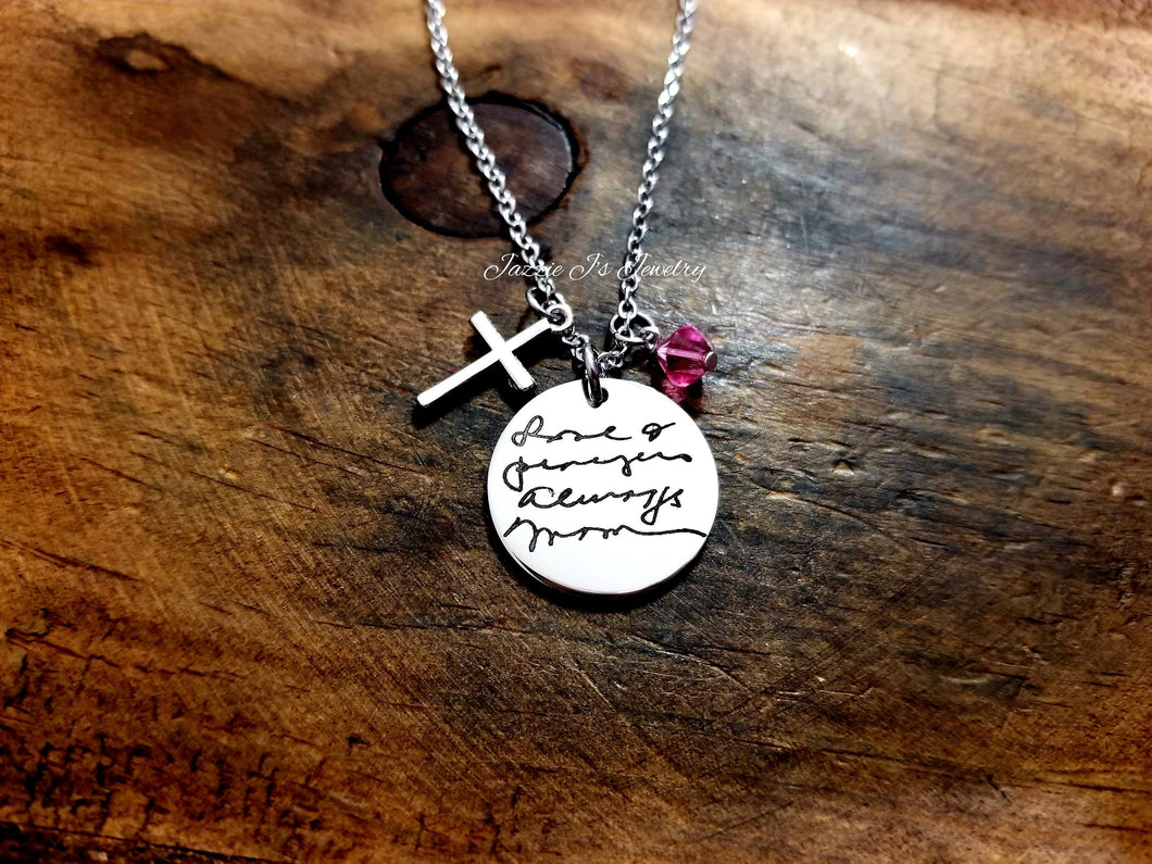 Actual Handwritten Necklace-JazzieJ'sJewelry